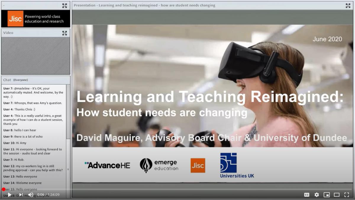 Screengrab of the webinar video